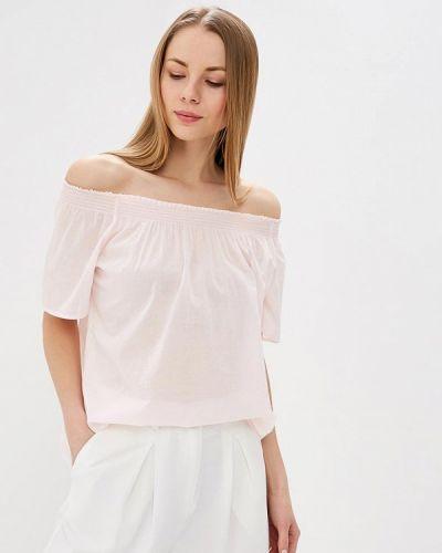 Блузка с открытыми плечами розовая весенний United Colors Of Benetton