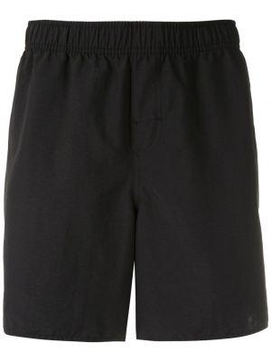 Пляжные черные плавки-боксеры свободного кроя с карманами Osklen