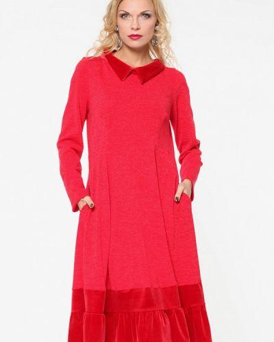 Платье красный осеннее Kata Binska