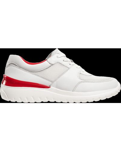 Кожаные кроссовки - белые Caprice