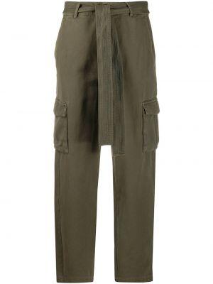 Хлопковые брючные зеленые брюки с карманами Anine Bing