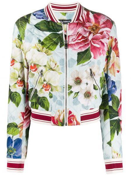 Куртка на молнии с цветочным принтом Dolce & Gabbana
