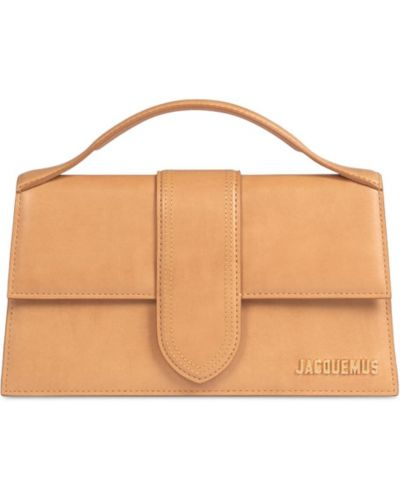 Бежевая кожаная сумка Jacquemus