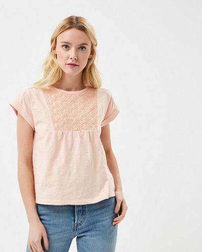 Розовое поло Roxy