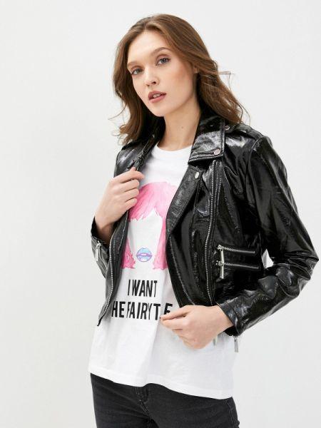 Черная кожаная куртка Sh