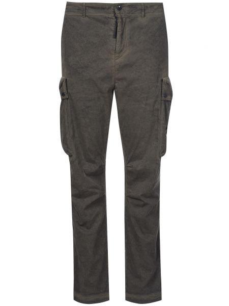 Зеленые брюки хлопковые C.p. Company