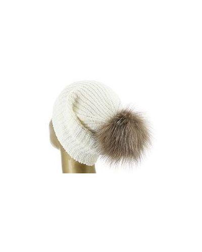 Белая шерстяная шапка Eleventy