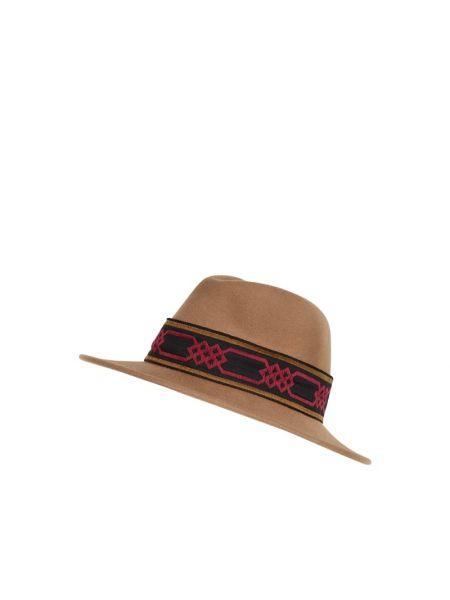 Brązowy czapka beanie wełniany Loevenich