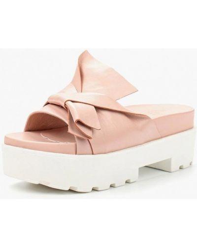 Розовое сабо кожаные Grand Style