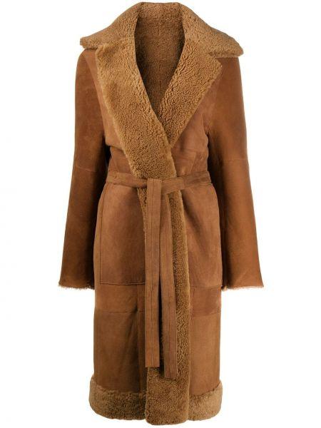 Длинное пальто со вставками пальто Liska