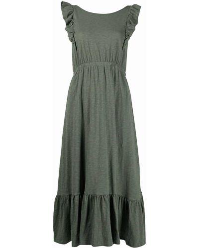 Зеленое платье миди без рукавов с вырезом Ba&sh
