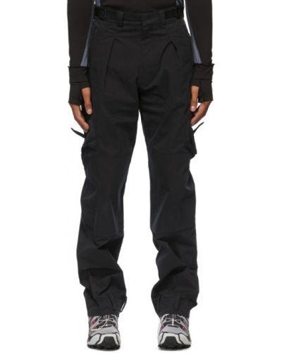 Парусиновые черные брюки карго милитари с поясом Hyein Seo