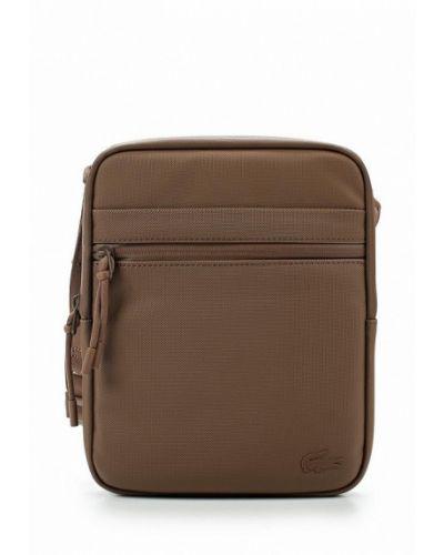 Коричневая сумка через плечо Lacoste