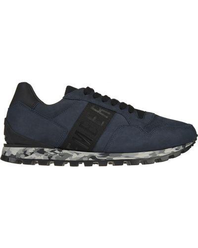Кожаные кроссовки - синие Bikkembergs