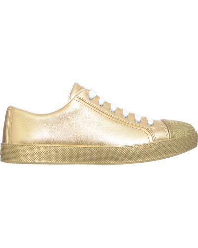 Кеды золотой Prada