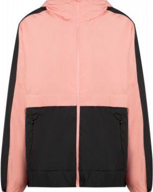 Прямая розовая куртка с капюшоном на молнии с карманами Demix