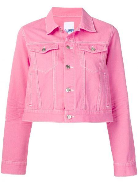 Розовая джинсовая куртка на пуговицах Sjyp