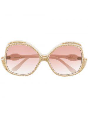 Муслиновые солнцезащитные очки хаки винтажные Emilio Pucci Pre-owned