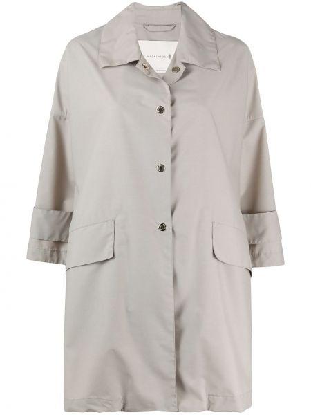 Шерстяное бежевое пальто с воротником Mackintosh