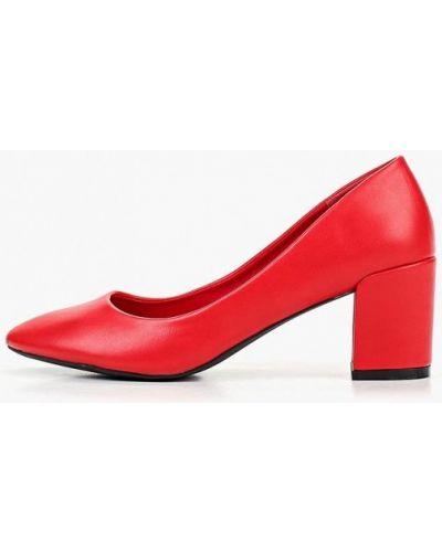 Туфли на каблуке кожаные красные Ideal Shoes®