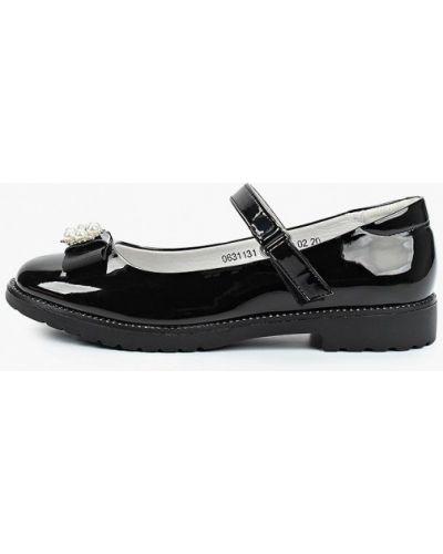 Лаковые кожаные черные туфли Marko