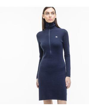 Платье из вискозы с воротником Lacoste