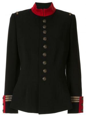 Армейская с рукавами черная куртка Ralph Lauren Collection