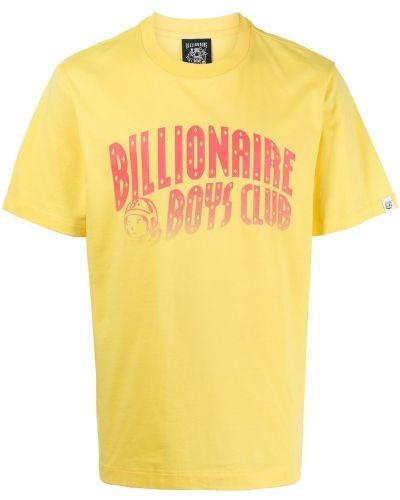 Желтая футболка с вырезом Billionaire Boys Club