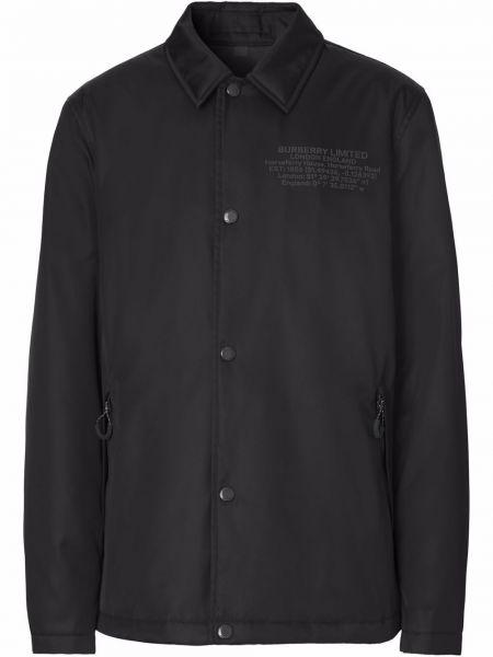 Koszula z printem - czarna Burberry