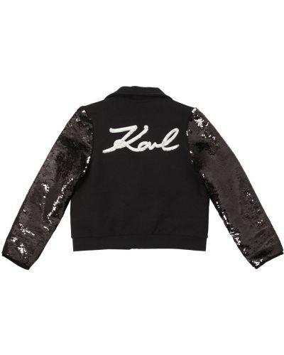 Ватная черная куртка с пайетками Karl Lagerfeld