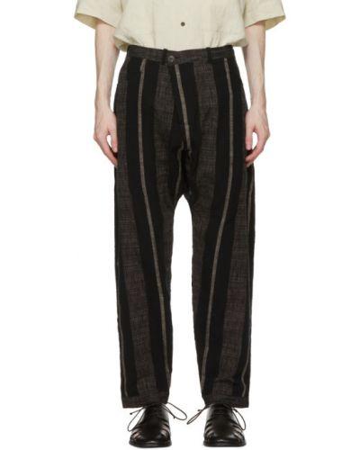 Czarne spodnie w paski bawełniane Jan-jan Van Essche