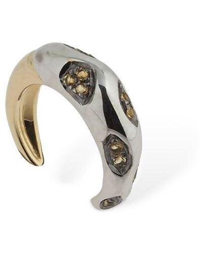Złote srebrne kolczyki Yvonne Leon Paris