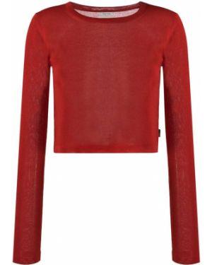 Красный свитер в рубчик из вискозы с манжетами Woolrich