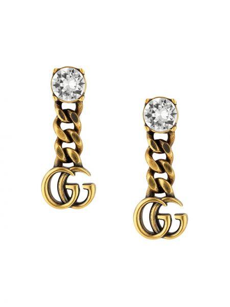 Złote kolczyki sztyfty pozłacane Gucci