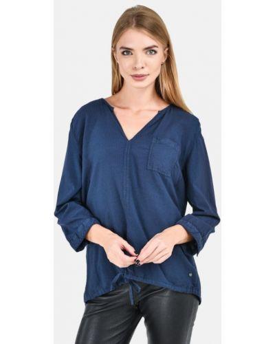 Синяя блузка с длинными рукавами с вырезом Broadway