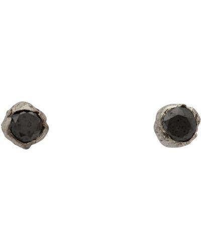 Z rombem czarny kolczyki z diamentem Pearls Before Swine