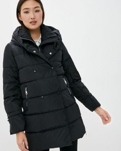 Теплая черная зимняя куртка B.style