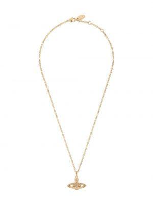 Wisiorka ze złota metal złoto Vivienne Westwood