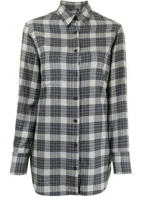 Хлопковая блузка - серая Kiton