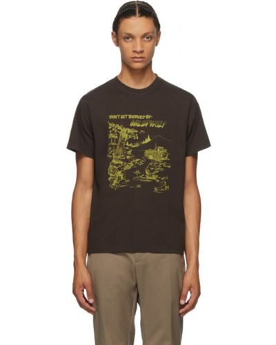Хлопковая с рукавами желтая рубашка с короткими рукавами с воротником Phipps