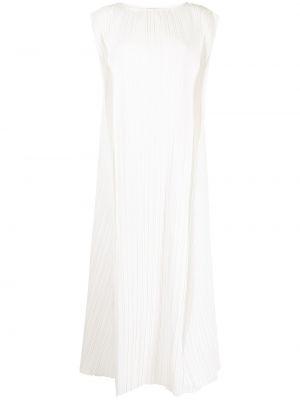 Расклешенное белое платье без рукавов Bambah