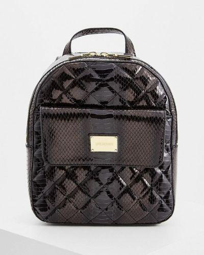 Черный рюкзак лаковый Love Moschino