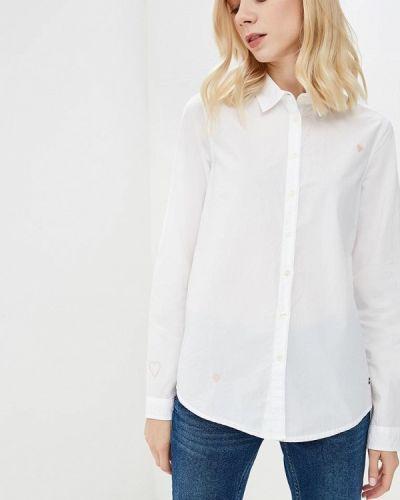 Белая рубашка с длинным рукавом Mustang