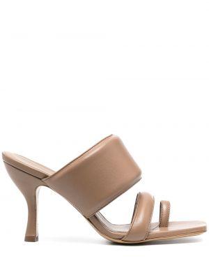 Кожаные сандалии - коричневые Gia Couture