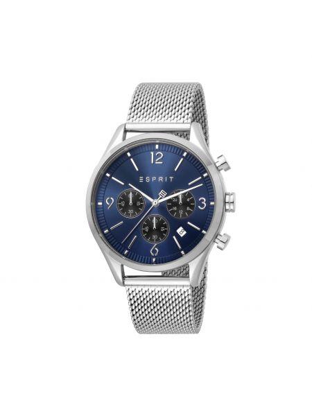 Zegarek srebrny - granatowy Esprit