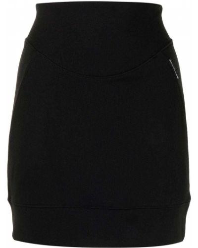 Хлопковая черная юбка мини с нашивками Alexanderwang.t