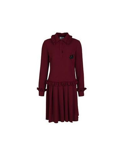 Платье для офиса - красное Ainea