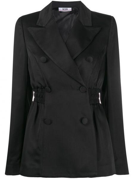 Черный пиджак с вышивкой из вискозы с лацканами Gcds
