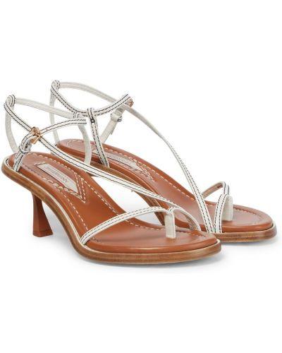 Białe sandały skorzane miejskie Zimmermann