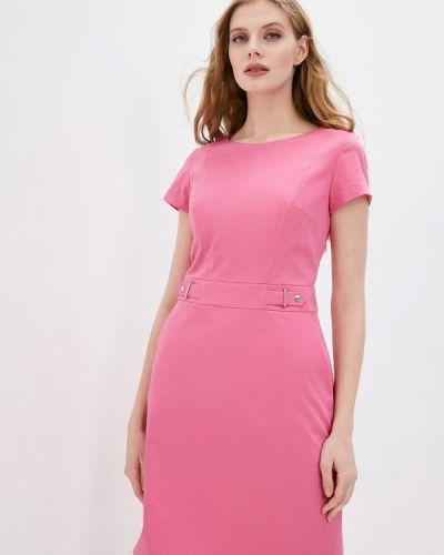 Розовое платье-футляр Hugo